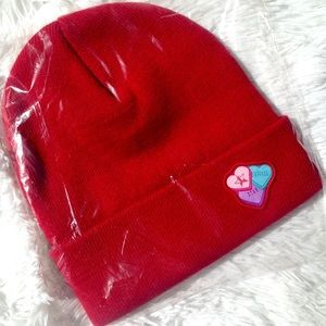 Jeffree Star Cosmetics Red Candy Hearts Beanie